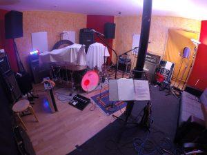 Großer Aufnahmeraum für Bands
